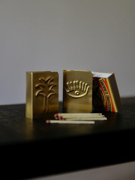 Madam Stoltz Brass Matchbox Covers