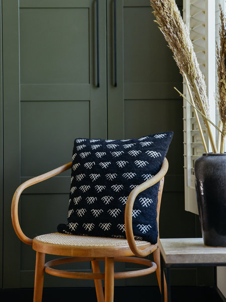 Madam Stoltz Cushion Cover Black And White
