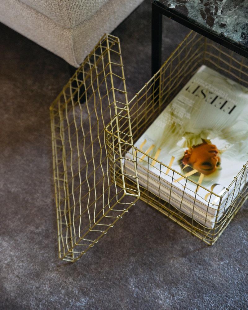 Wire Basket Brass