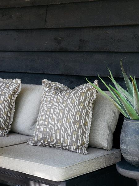 Madam Stoltz Cushion Cover Cotton Stripes