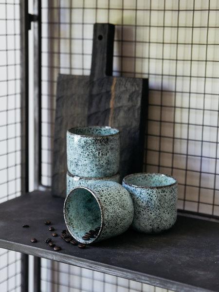 Madam Stoltz Mug Stoneware Green/Black