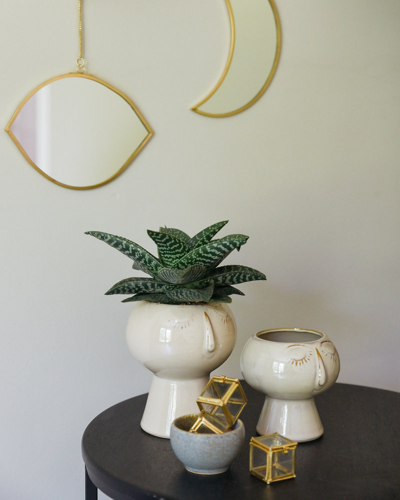 Hanging Mirror Eye Brass