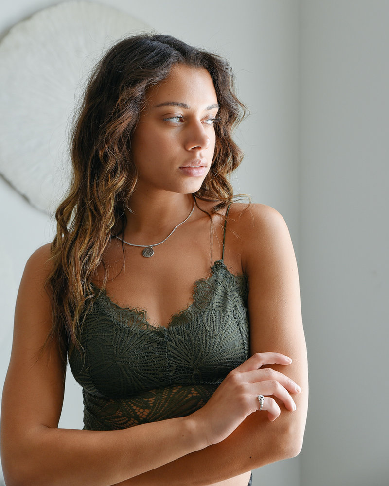 Giselle Lace Bra Green