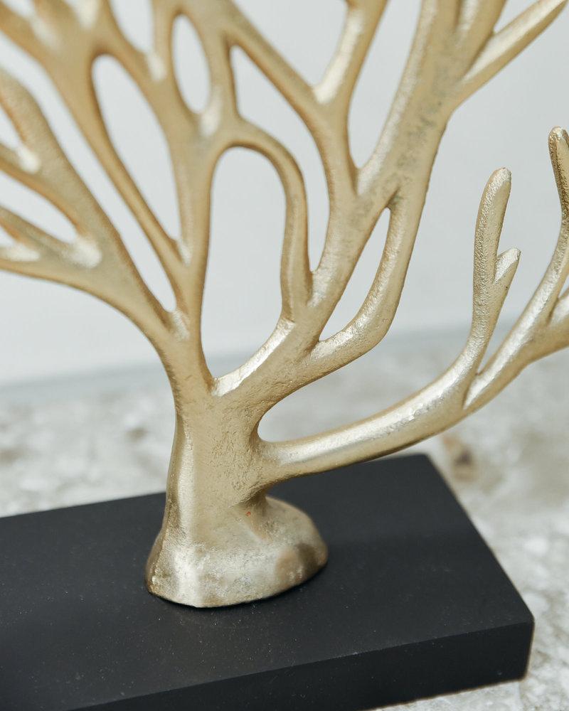 Gold Coral  Ornament