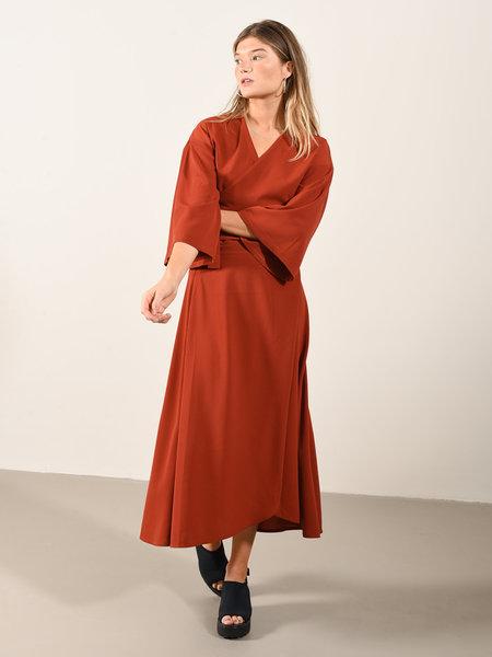 Things I Like Things I Love TILTIL Maci Maxi Skirt Rust