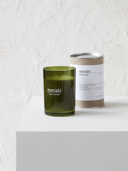 House Doctor Scented Candle Green Herbal