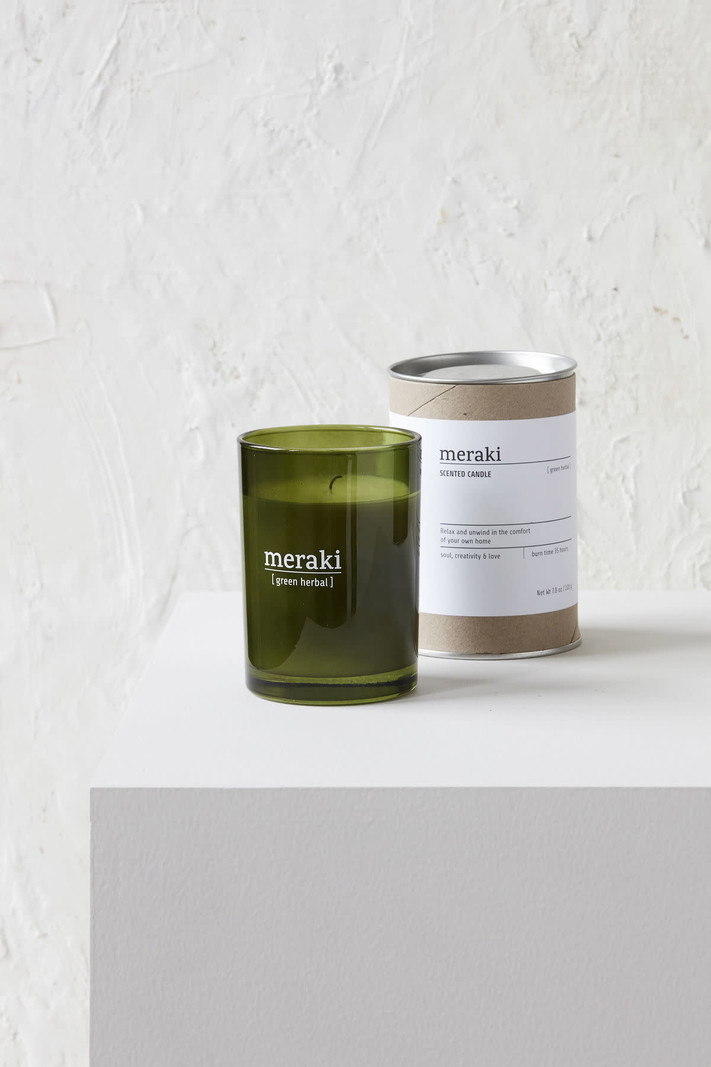 Scented Candle Green Herbal