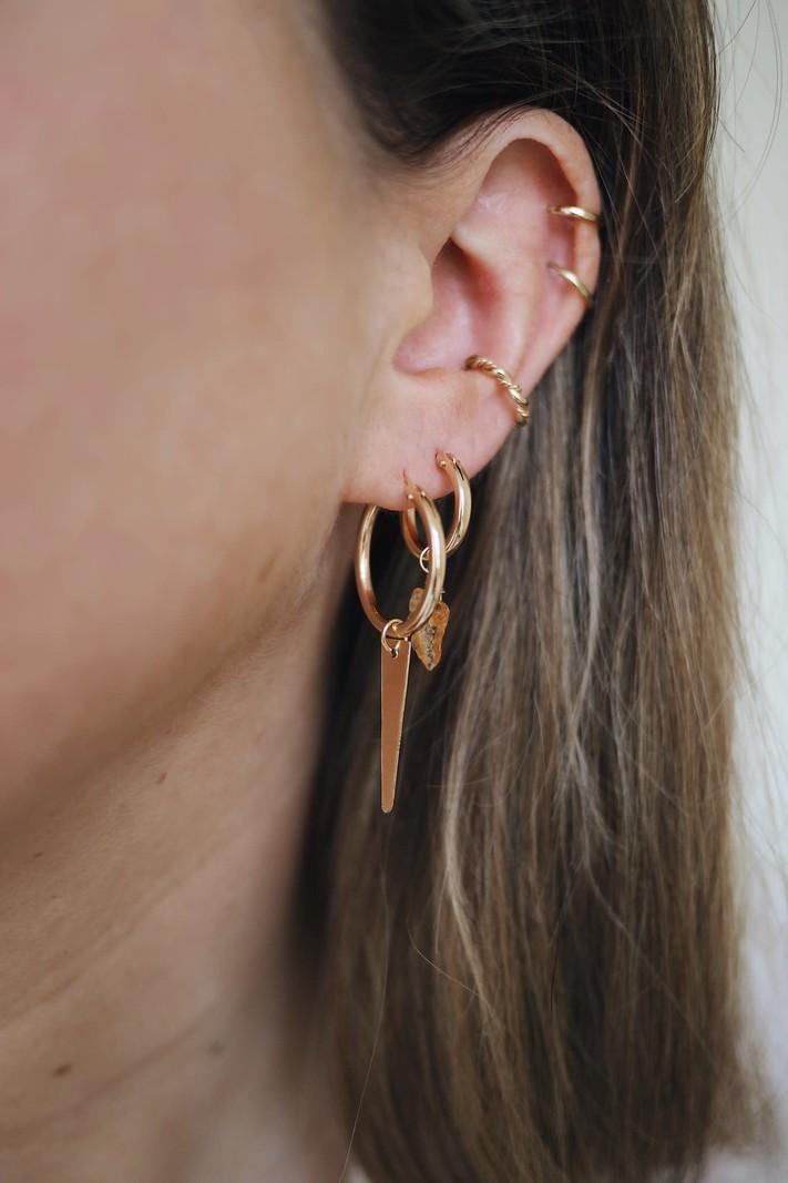 TTC Goldfilled Earring Charm November Topaz