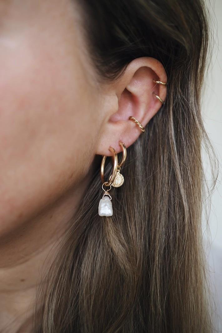 TTC Goldfilled Earring CharmJune Pearl