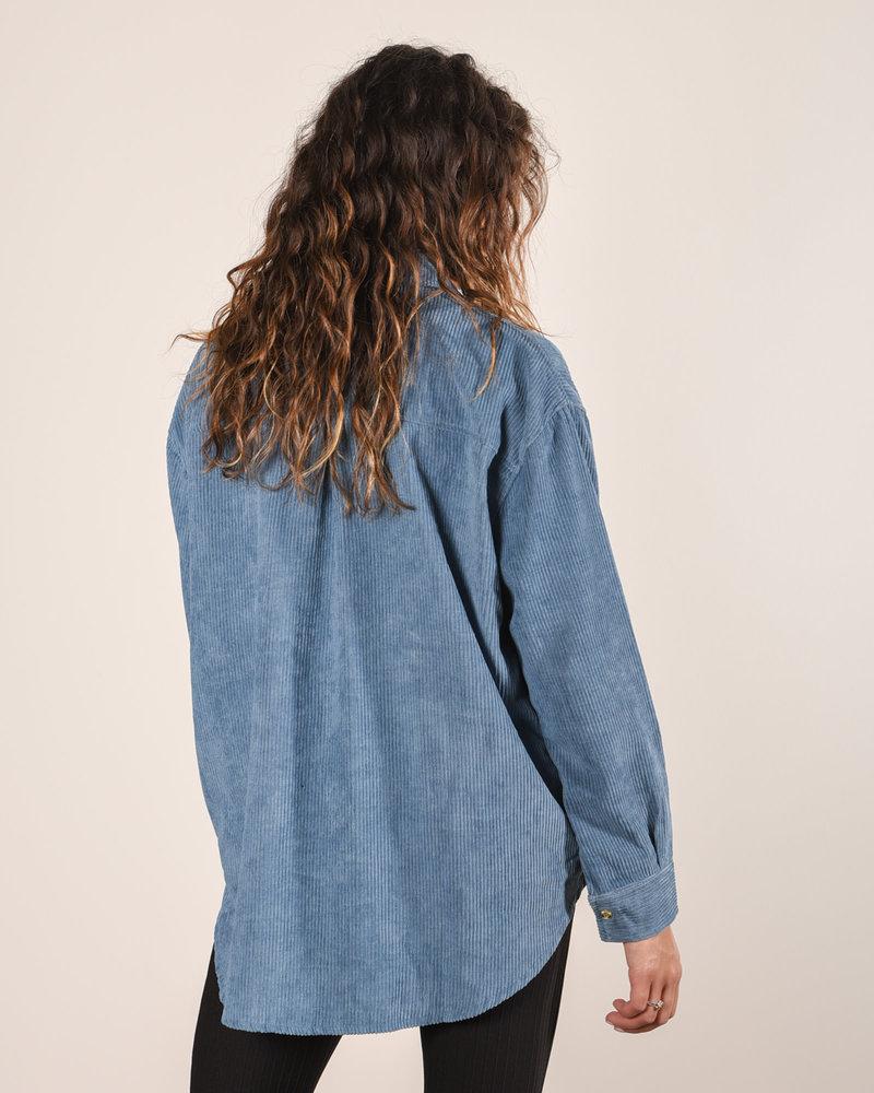 TILTIL Corduroy Blouse Blue