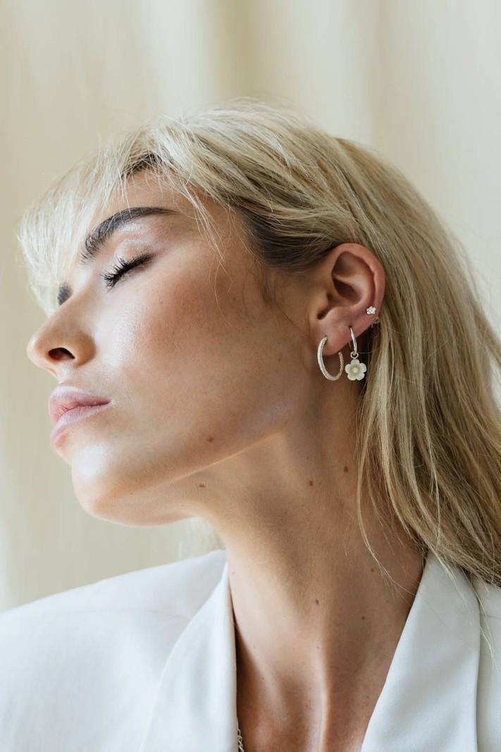 WT Vintage Love Earring Silver