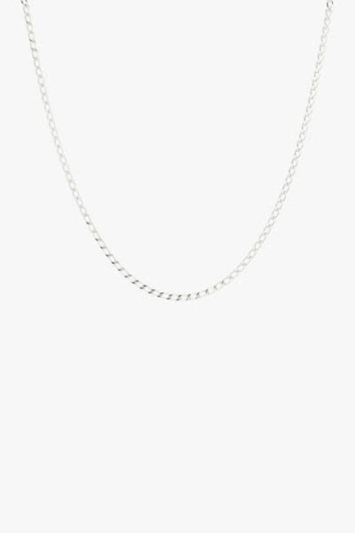 Medium Oval Silver Necklace