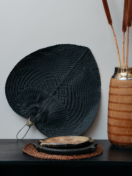 Bamboo Fan Black