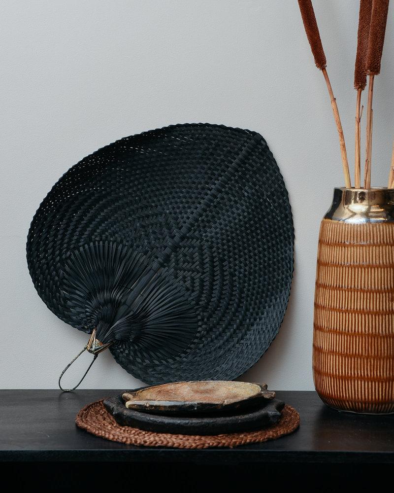 Vase Ceramic Brown Stripes