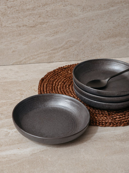 House Doctor Shallow Bowl Pion Black
