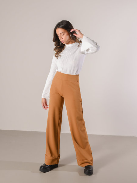 YAS Tuck Up Wide Pant Rubber