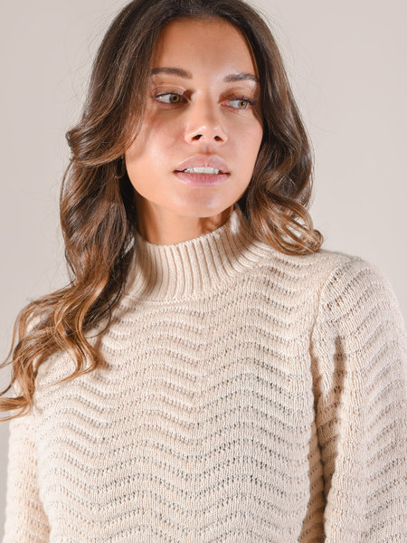 YAS Betricia Knit Pullover Whisper Pink