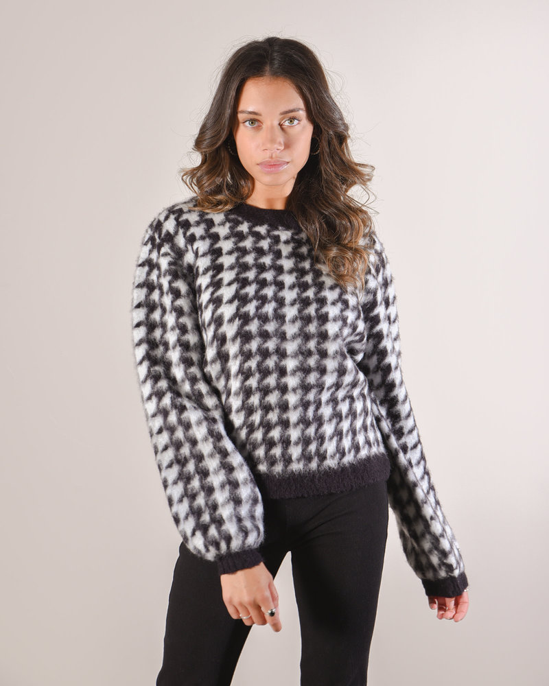 Houndstooth Sweater Black/White