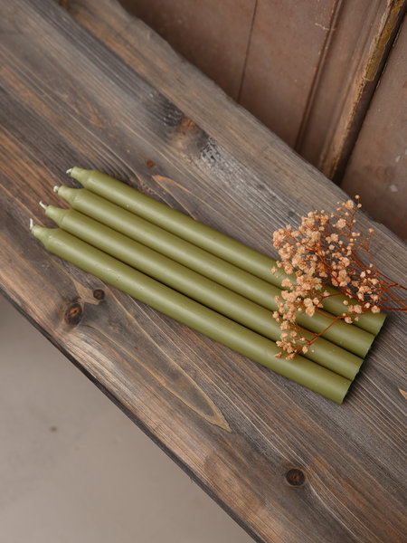 Candle Moss Green Set of 4