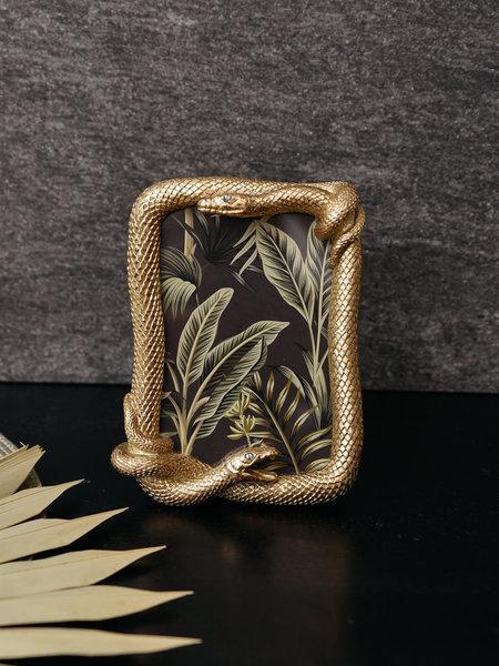 Photo Frame Snake Gold