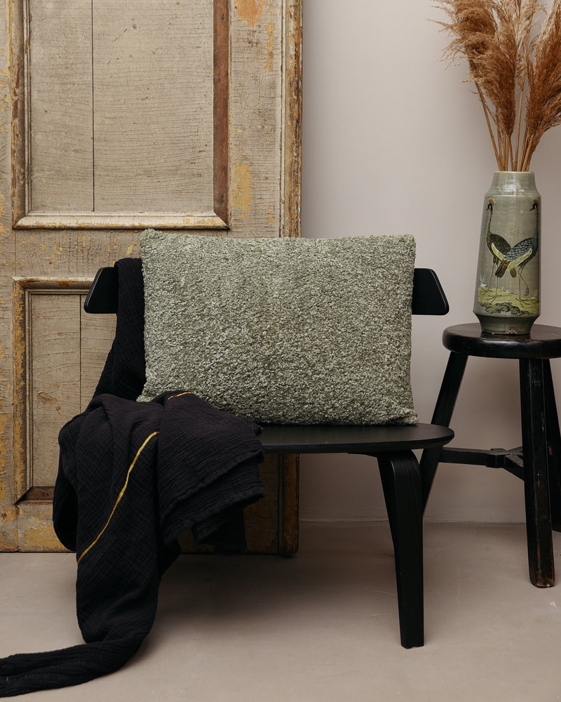 Cushion Mouton Grey Green