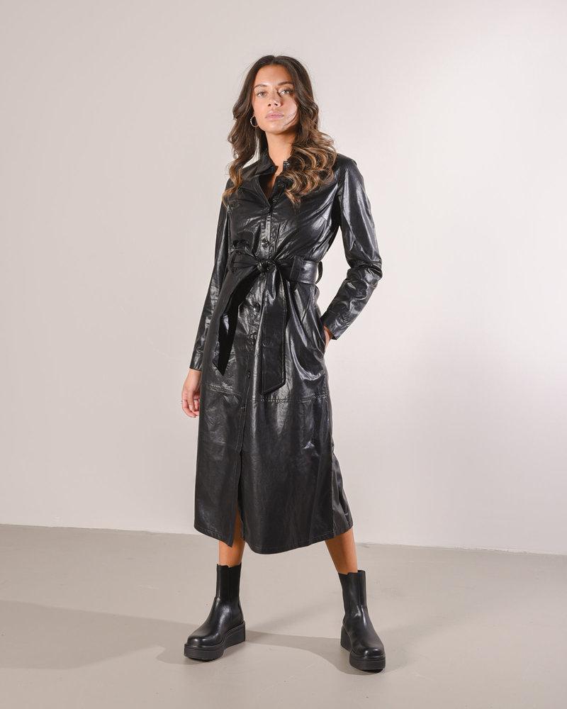 Helena PU Dress Black