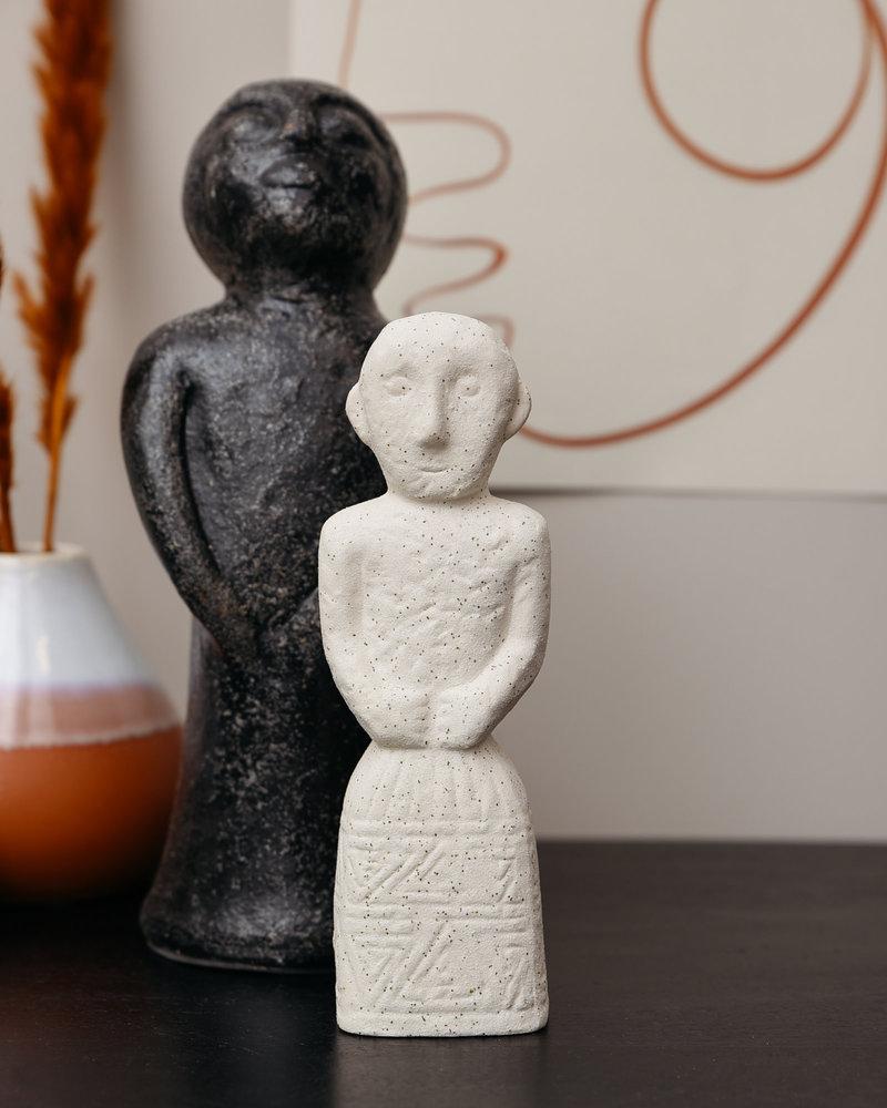 Stoneware Decoration White Men