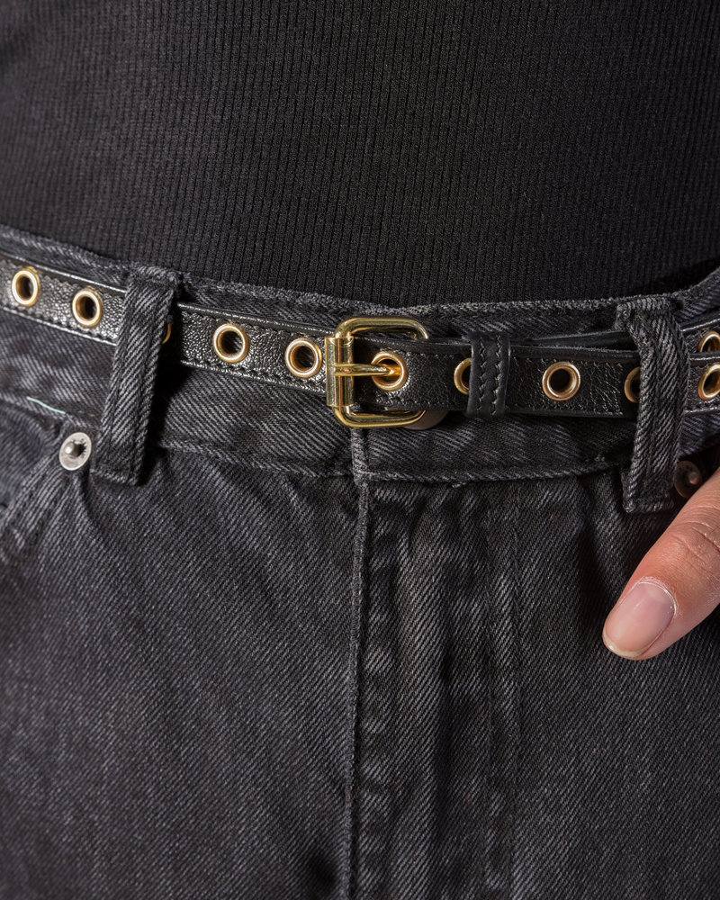 Gyda Leatherbelt black/gold