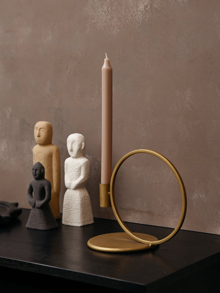 Candle Holder Gold Round Big