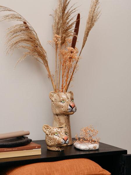 Vase Leopard Brown