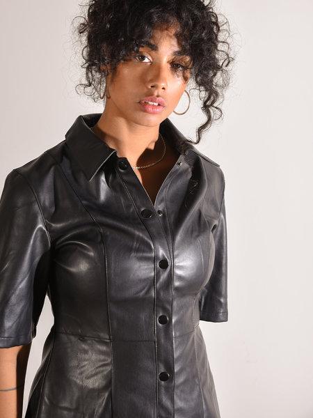 Rut & Circle Petra PU Dress Black