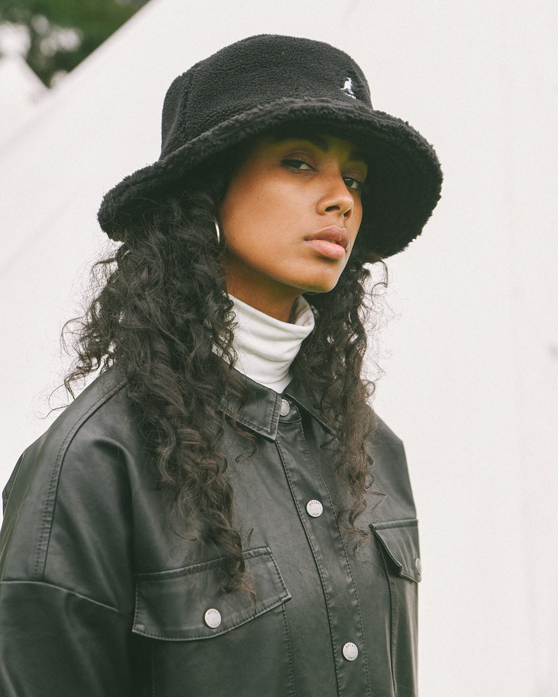 KANGOL Plush Rap Hat Black