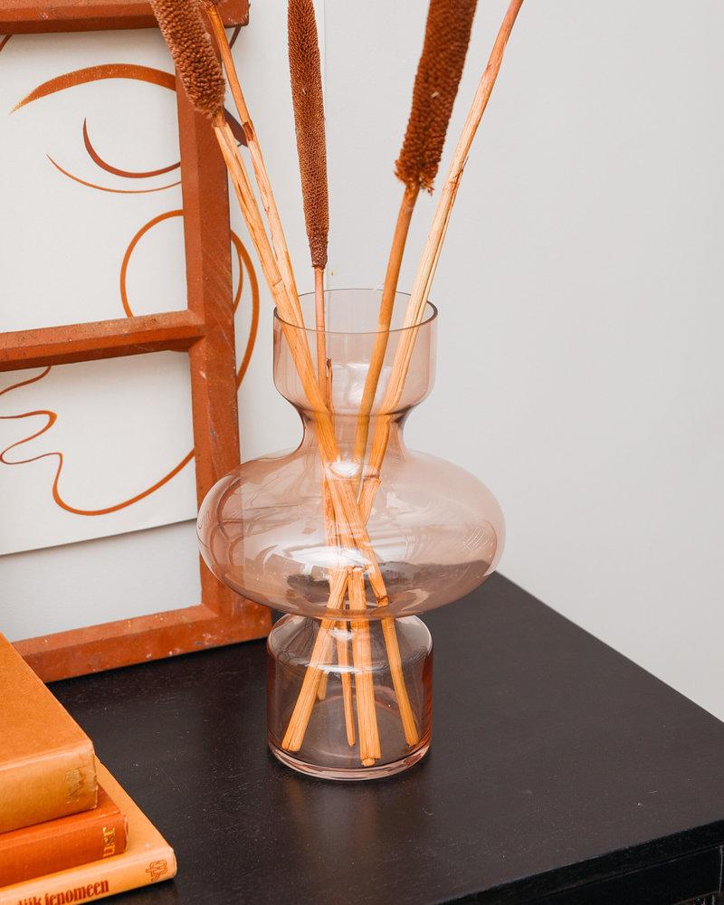 Peach Glass Vase