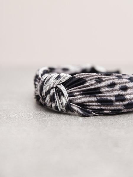 Naja Leo Plisse Headband Grey