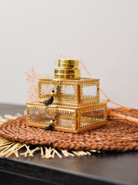Madam Stoltz Gold Glass Box Tassel
