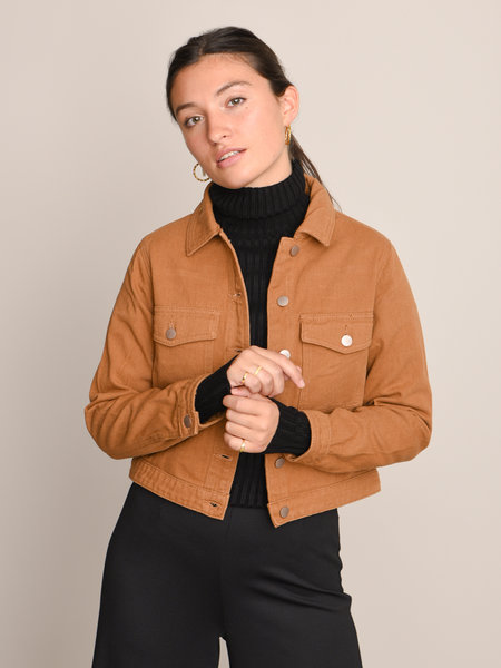24Colours 90283b Denim Jacket Brown