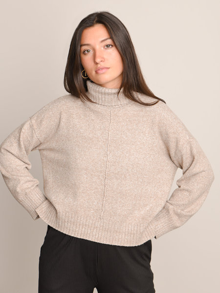 Noisy May Roll Neck Knit Noos Nomad Melange