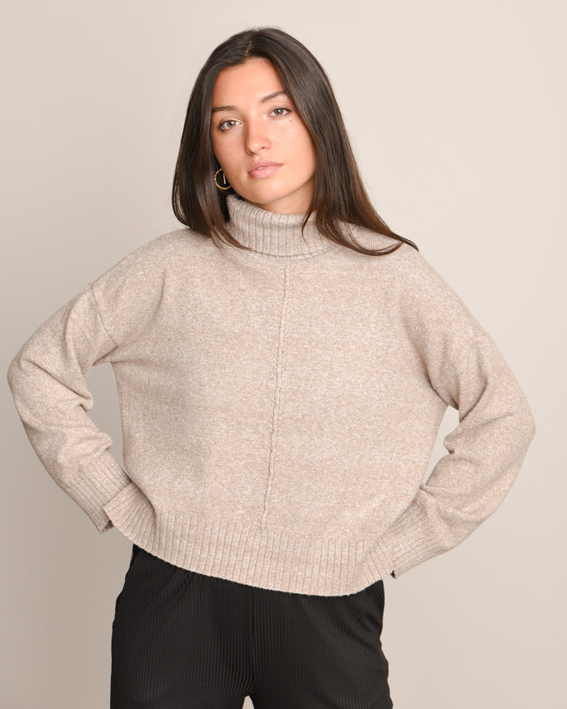 Roll Neck Knit Noos Nomad Melange