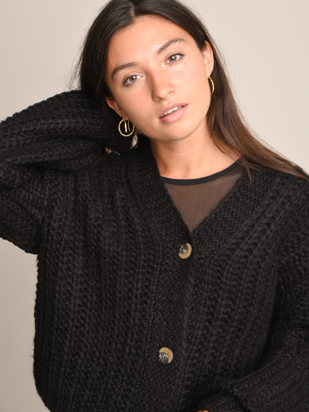 Noisy May Steve Knit Cardigan Noos Black