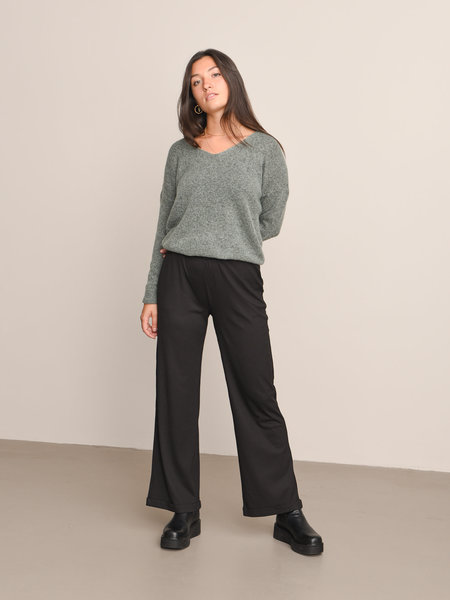 Noisy May Louise HW Long Pants Black