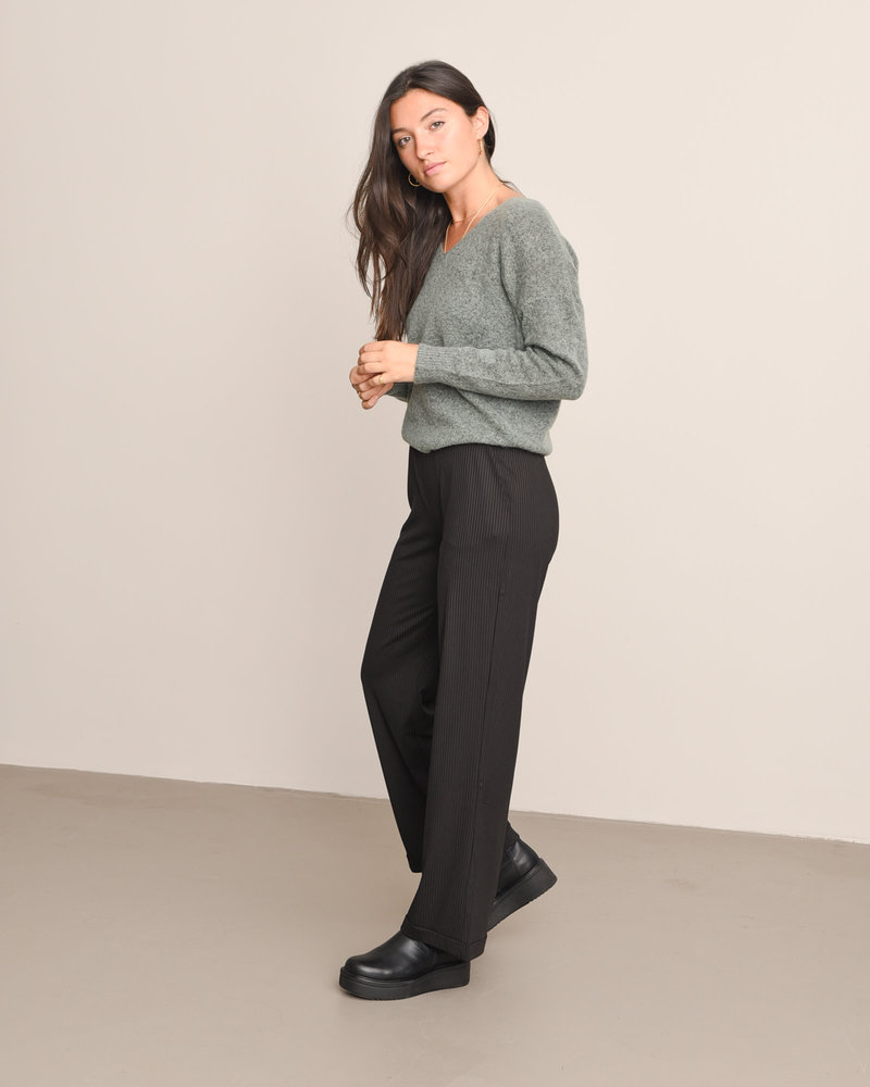 Louise HW Long Pants Black
