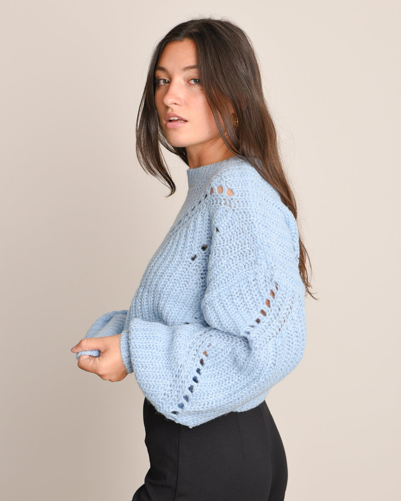 Powda Knit Pullover Powder Blue