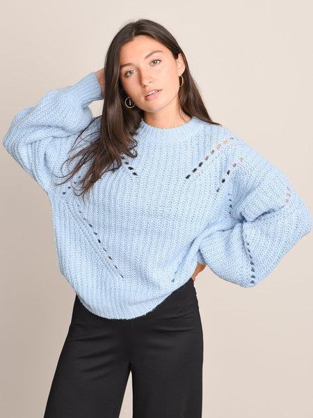 YAS Powda Knit Pullover Powder Blue