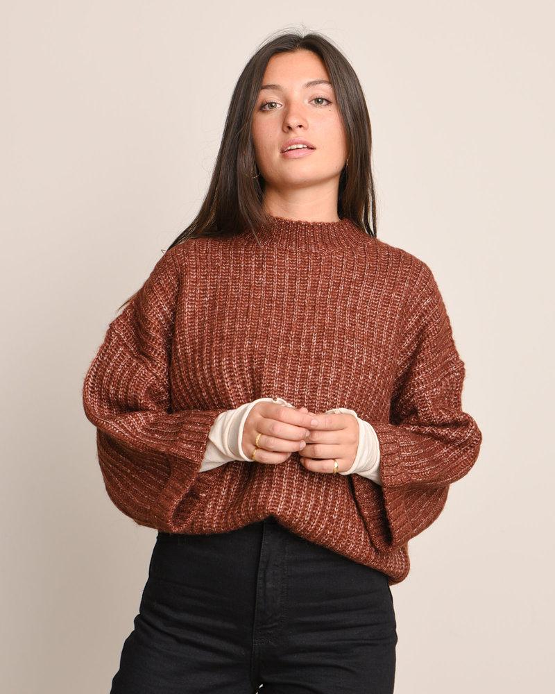 Sunday Knit Pullover Rum Raisin