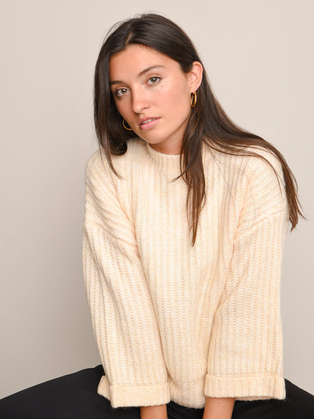 YAS Sunday Knit Pullover Whisper Pink