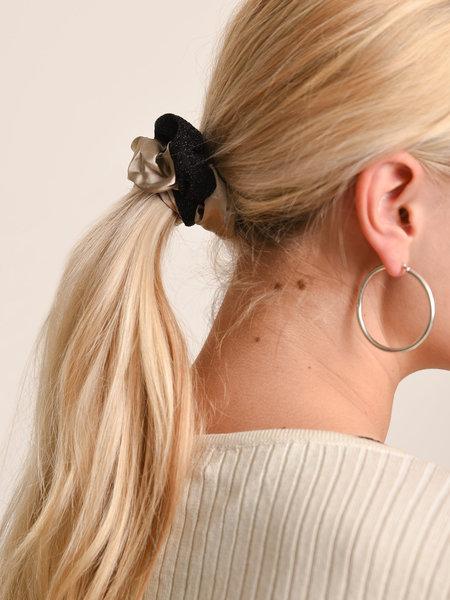 Yehwang Scrunchie Set Black Beige Glitter