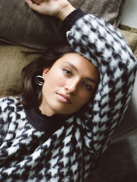 NAKD Houndstooth Sweater Black/White