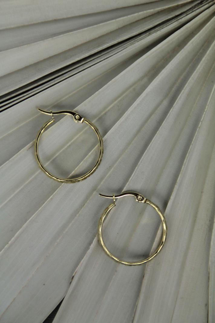 Cross Hoop 20MM Gold