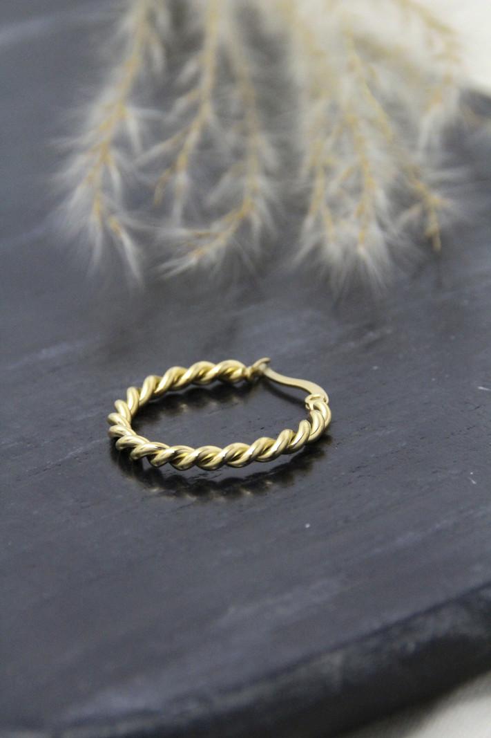 Twisty Hoop 20MM Gold