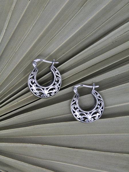 Things I Like Things I Love Baroque Silver Hoop